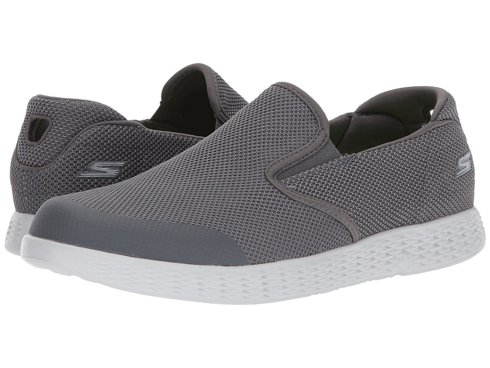 SKECHERS Performance - On-the-Go Glide (Charcoal) Men's Slip on Shoes