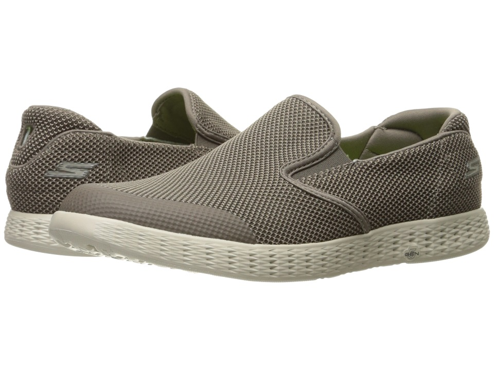 SKECHERS Performance - On-the-Go Glide (Khaki) Men's Slip on Shoes