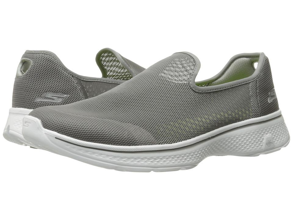 SKECHERS Performance - Go Walk 4 - Advance (Gray) Men's Walking Shoes
