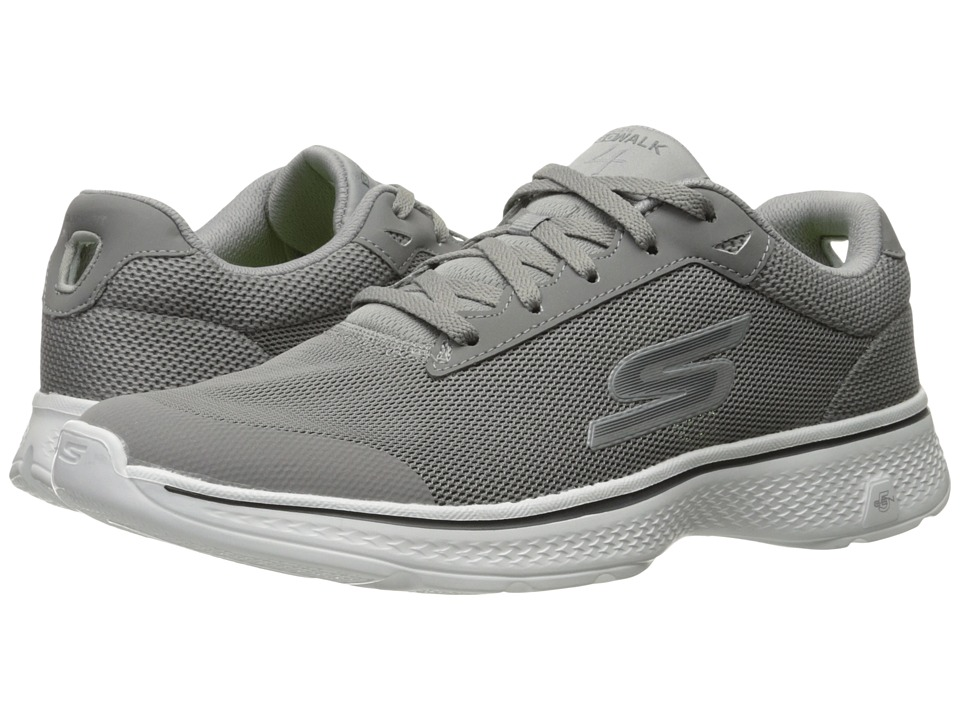 SKECHERS Performance - Go Walk 4 - Distance (Gray) Men's Walking Shoes