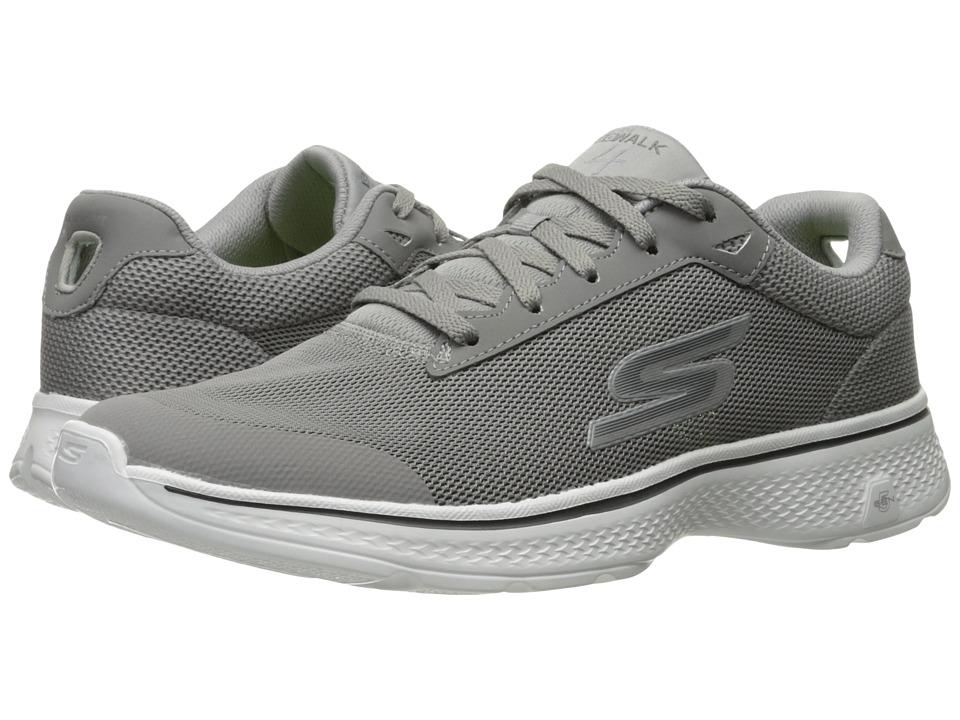 SKECHERS Performance - Go Walk 4 - Distance (Gray) Men's Walking Shoes