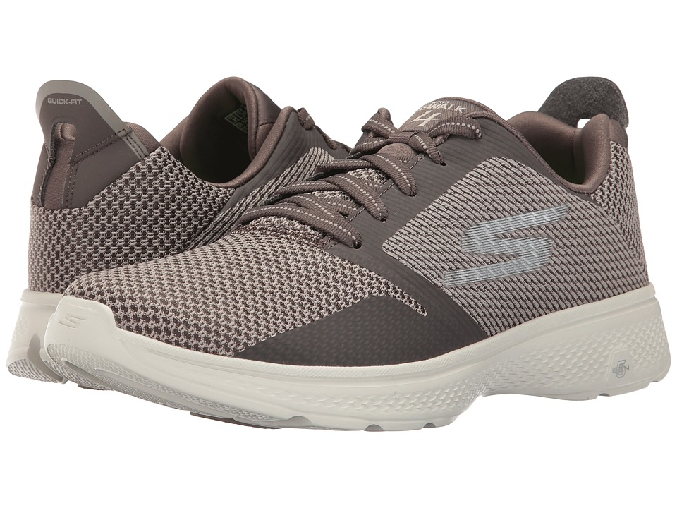 SKECHERS Performance - Go Walk 4 (Taupe) Men's Walking Shoes