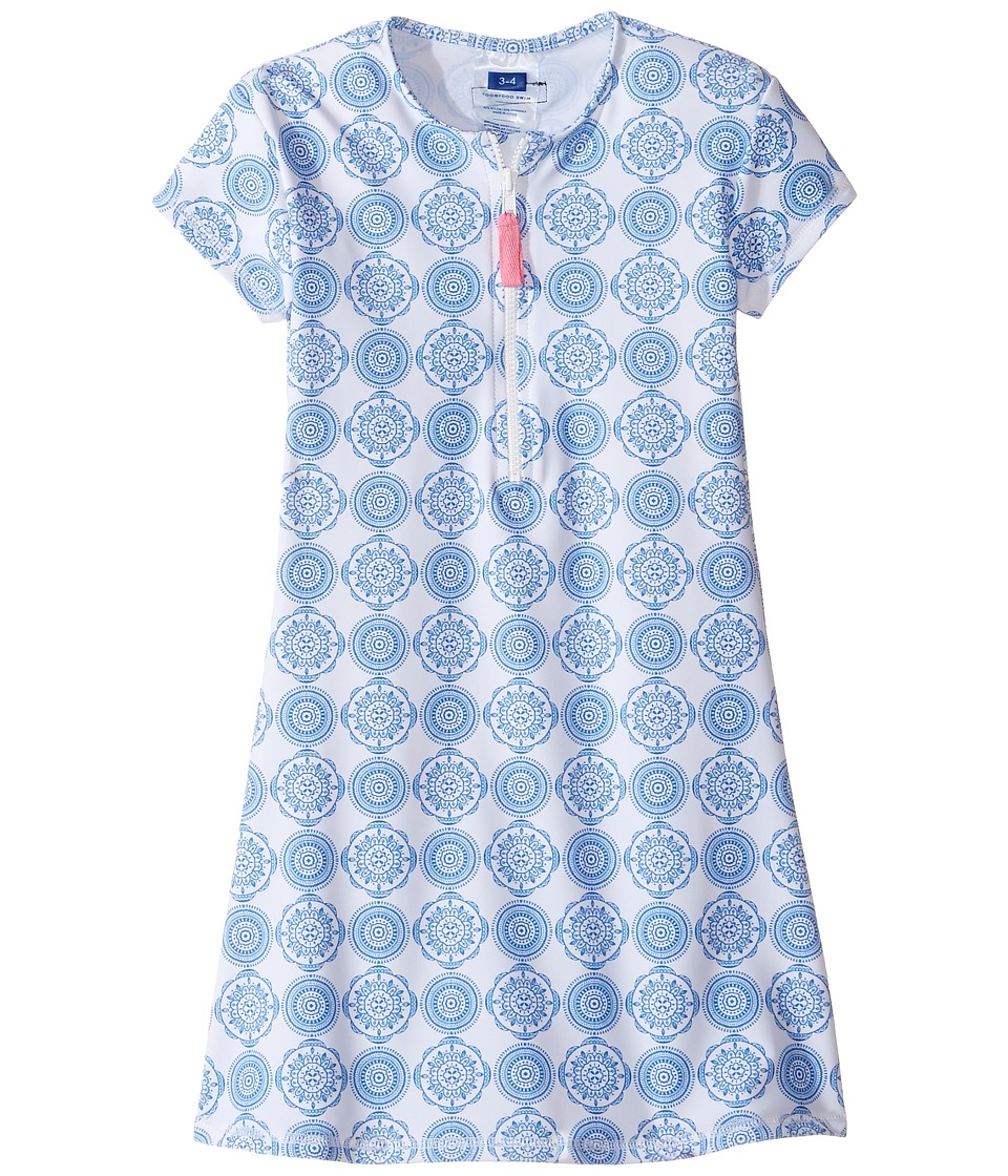 Toobydoo - Delft Rashguard Dress (Infant/Toddler/Little Kids/Big Kids) (Blue/White) Girl's Dress