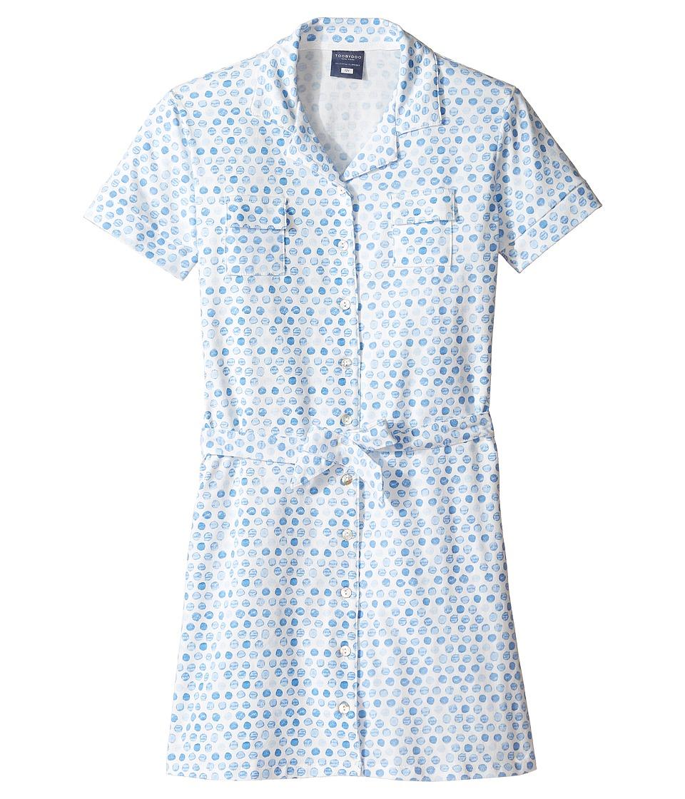 Toobydoo - Short Sleeve Polo Dress (Toddler/Little Kids/Big Kids) (Pink/White) Girl's Dress
