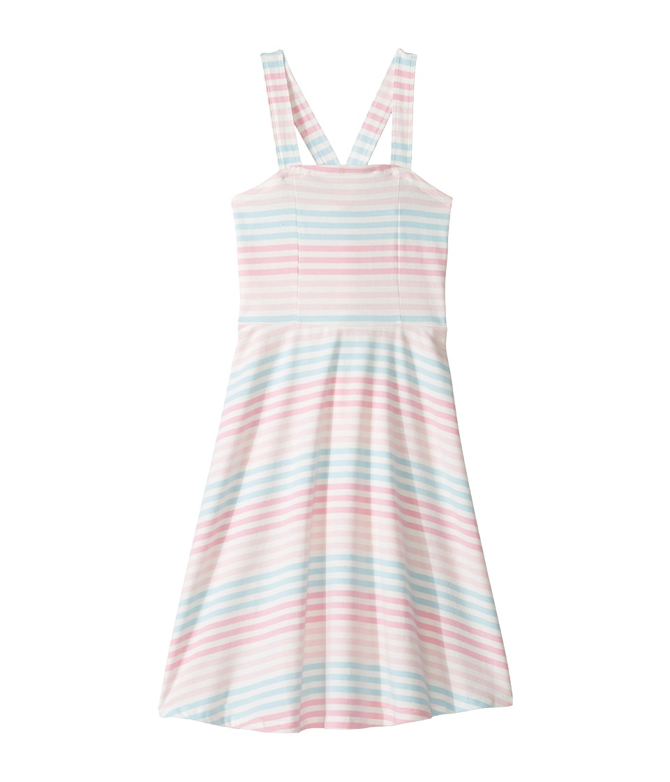 Toobydoo - Racerback Skater Dress (Toddler/Little Kids/Big Kids) (Pink/Blue/White) Girl's Dress