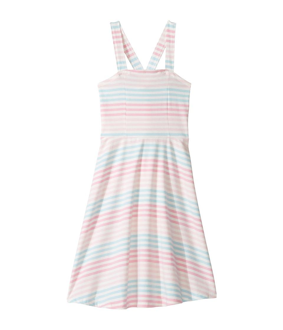 Toobydoo - Racerback Skater Dress (Toddler/Little Kids/Big Kids) (Pink/Blue/White) Girl's Dress