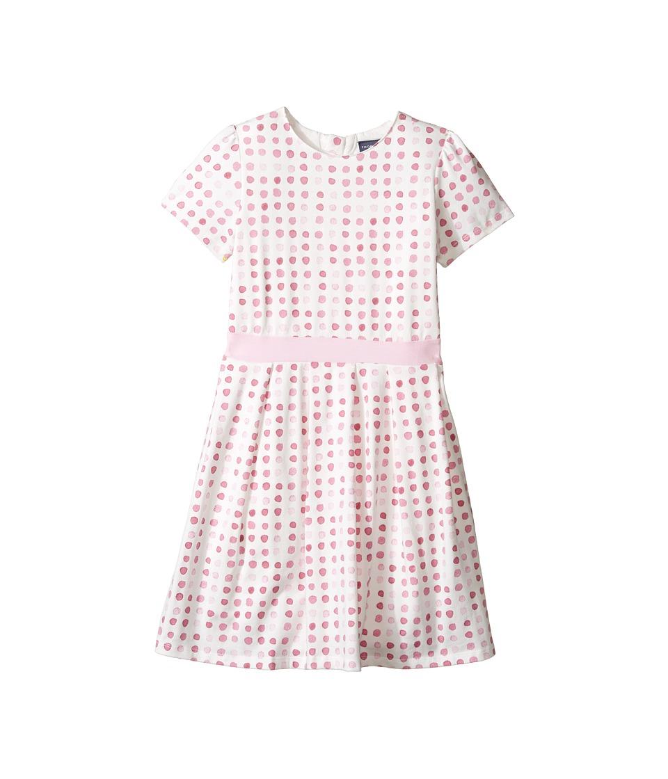 Toobydoo - Jersey Belted Party Dress (Toddler/Little Kids/Big Kids) (Pink Dot/White) Girl's Dress