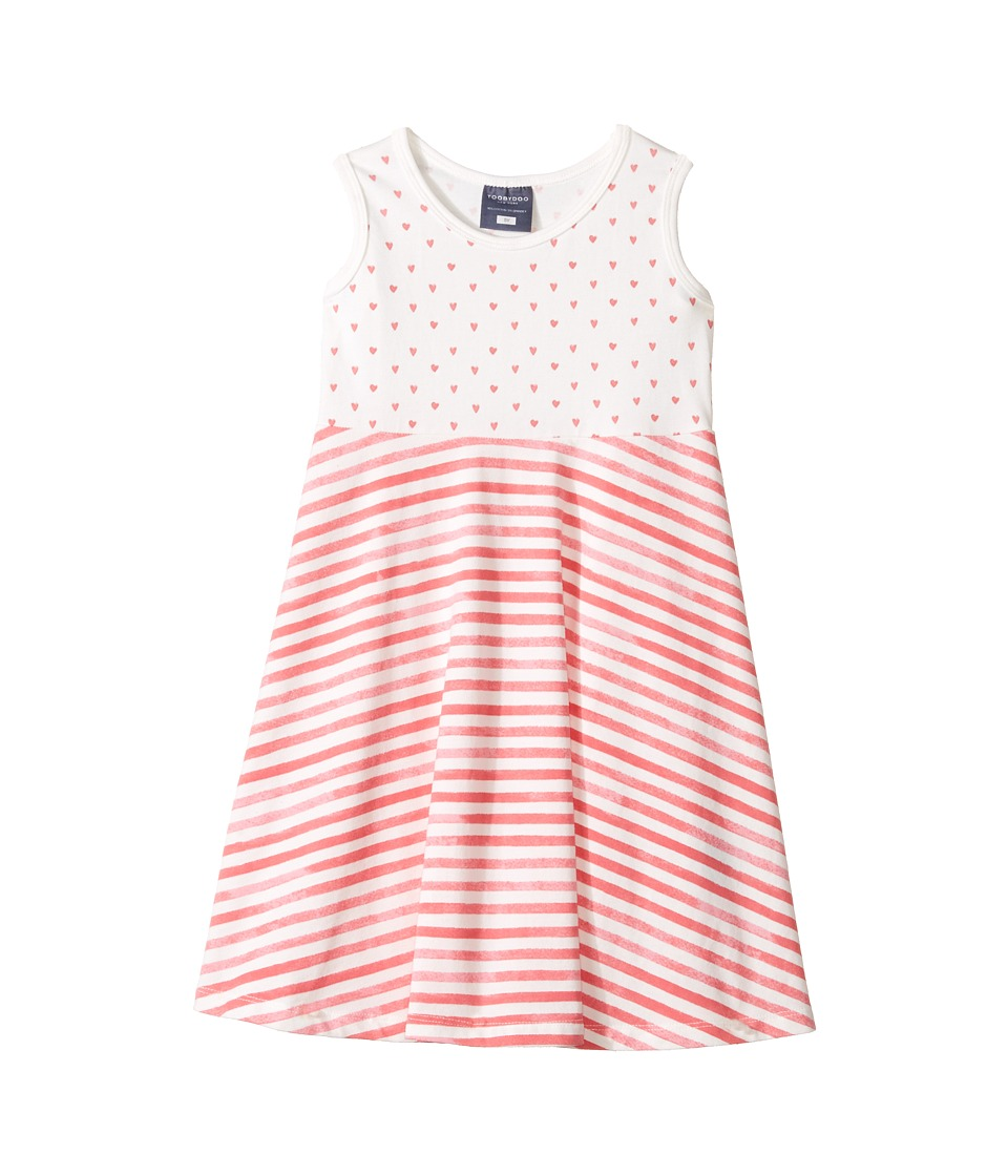 Toobydoo - Heart Skater Dress (Toddler/Little Kids/Big Kids) (Pink/White) Girl's Dress