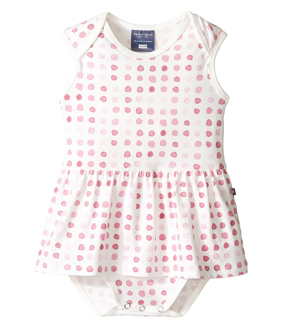 Toobydoo - Watercolor Bodysuit Dress (Infant) (Pink/White) Girl's Dress
