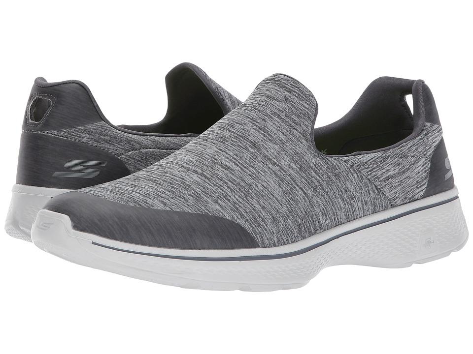 SKECHERS Performance - Go Walk 4 - 54174 (Gray) Men's Slip on Shoes