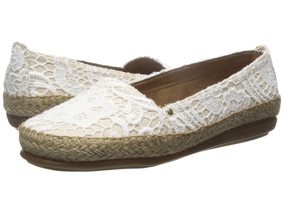 A2 by Aerosoles - Solitaire (White Fabric) Women's Flat Shoes