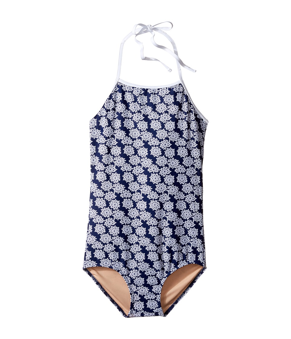 Toobydoo - Floral One-Piece Swimsuit (Infant/Toddler/Little Kids/Big Kids) (Navy/White) Girl's Swimsuits One Piece