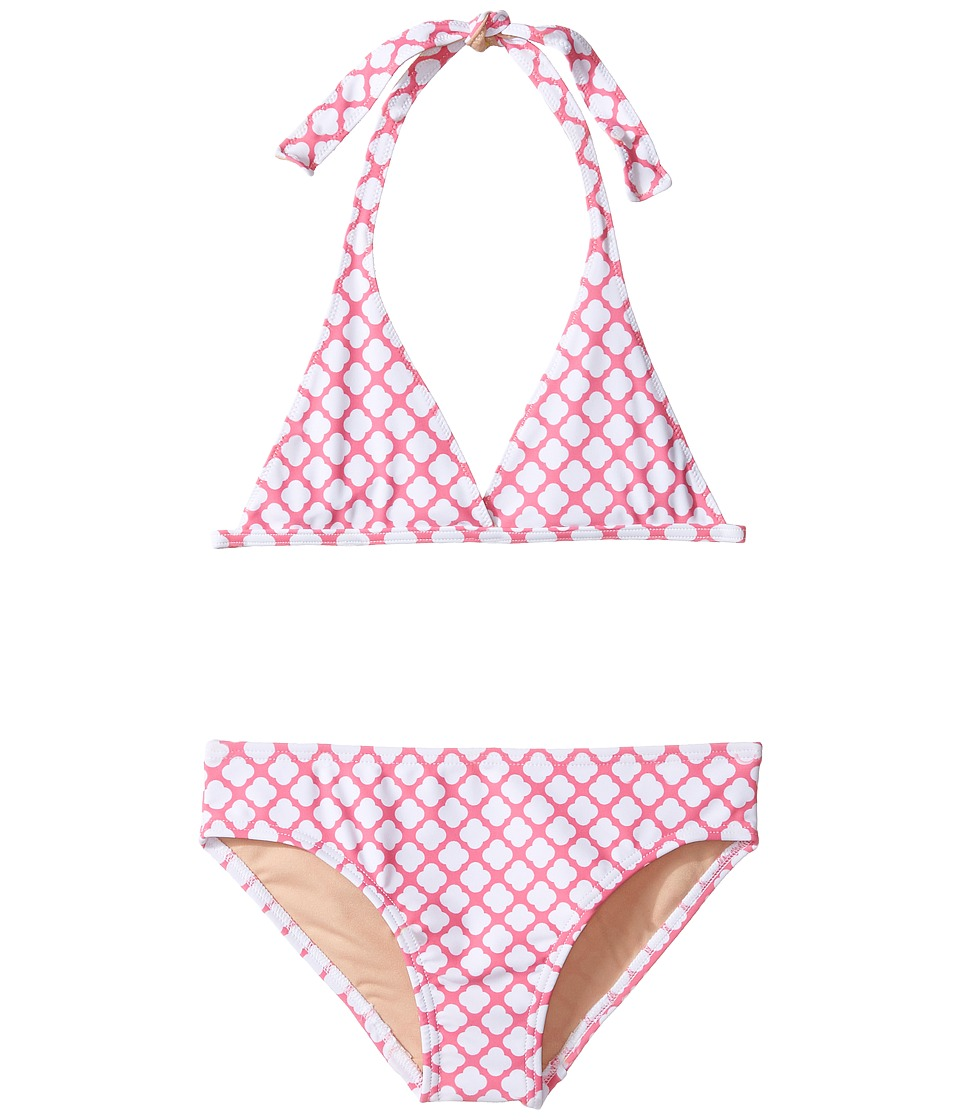 Toobydoo - Delft Bikini (Infant/Toddler/Little Kids/Big Kids) (Pink/White) Girl's Swimwear