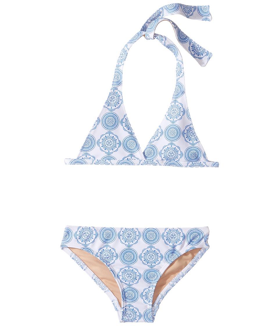 Toobydoo Delft Bikini (Infant/Toddler/Little Kids/Big Kids) (Blue/White) Girl