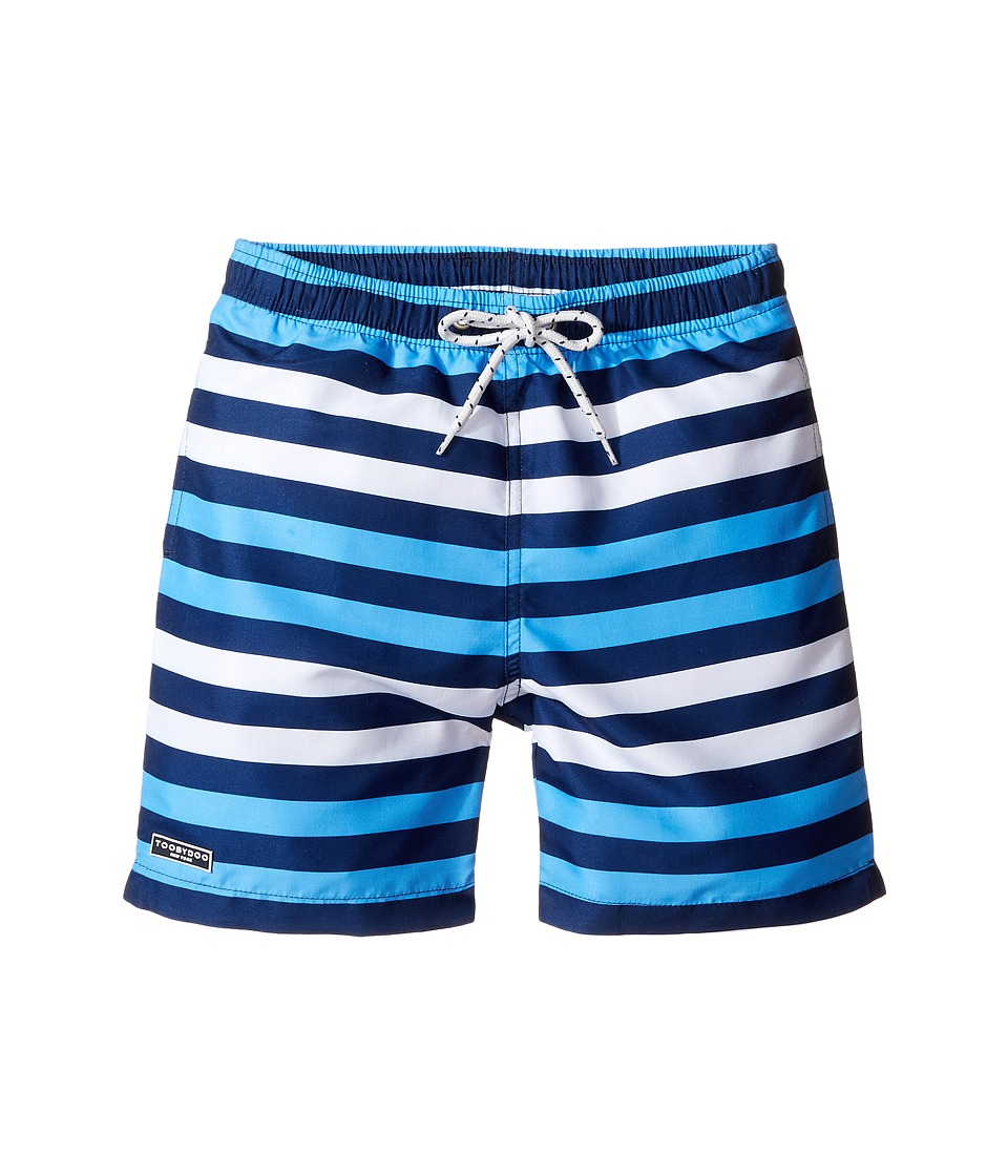 Toobydoo - Swim Shorts - Regular (Infant/Toddler/Little Kids/Big Kids) (Multi Blue/White) Boy's Swimwear