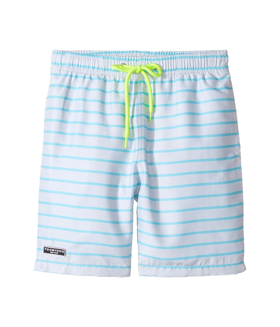 Toobydoo - Stripe Swim Shorts (Infant/Toddler/Little Kids/Big Kids) (Grey/Aqua) Boy's Swimwear