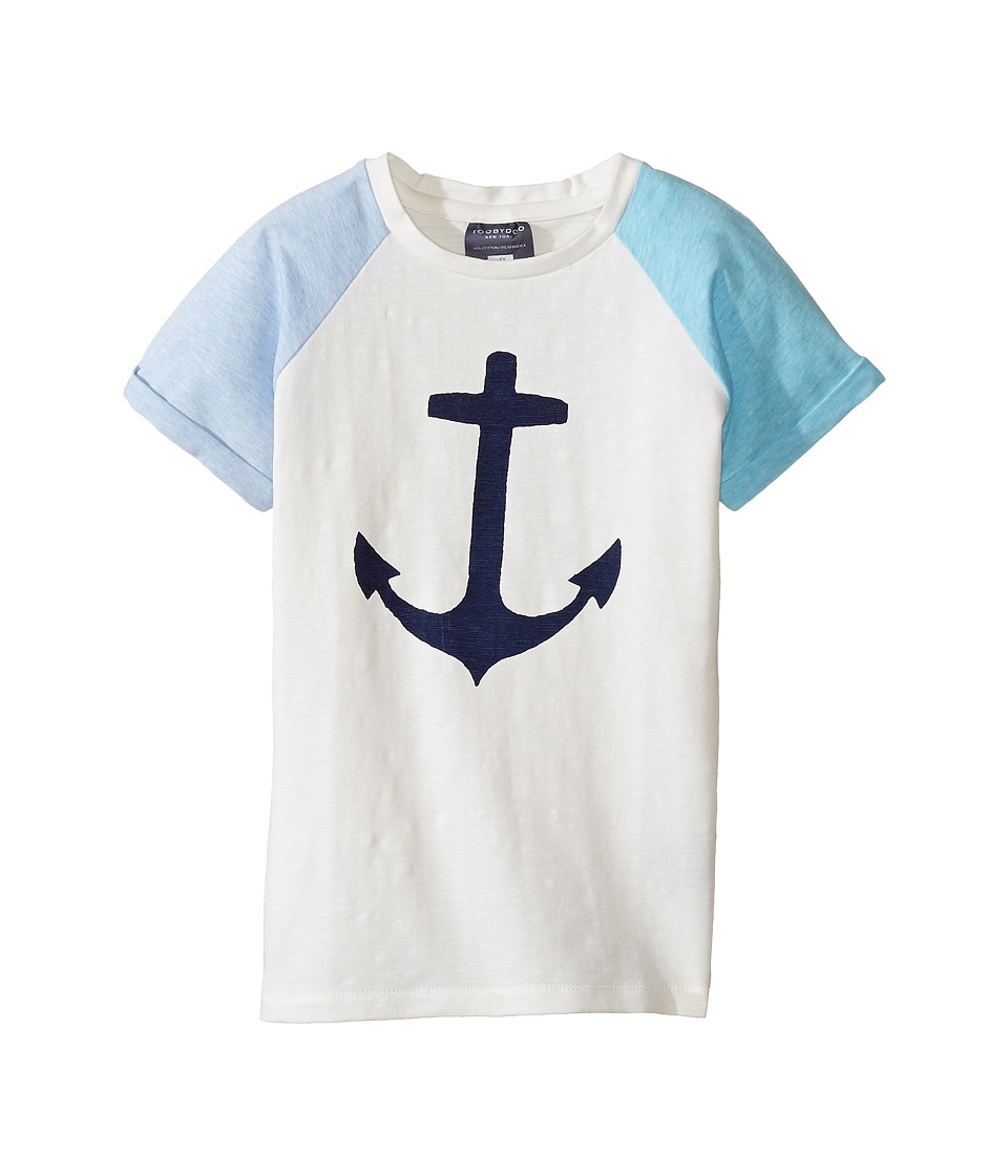 Toobydoo - Lucky Anchor T-Shirt (Toddler/Little Kids/Big Kids) (Blue/White/Navy) Girl's T Shirt