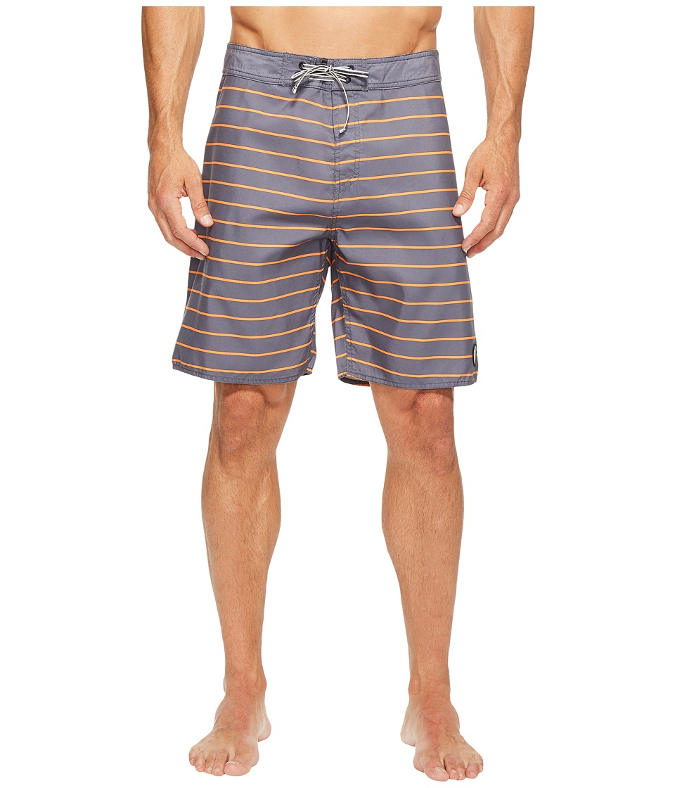 Captain Fin - Time Warp Boardshorts (Charcoal) Men's Swimwear
