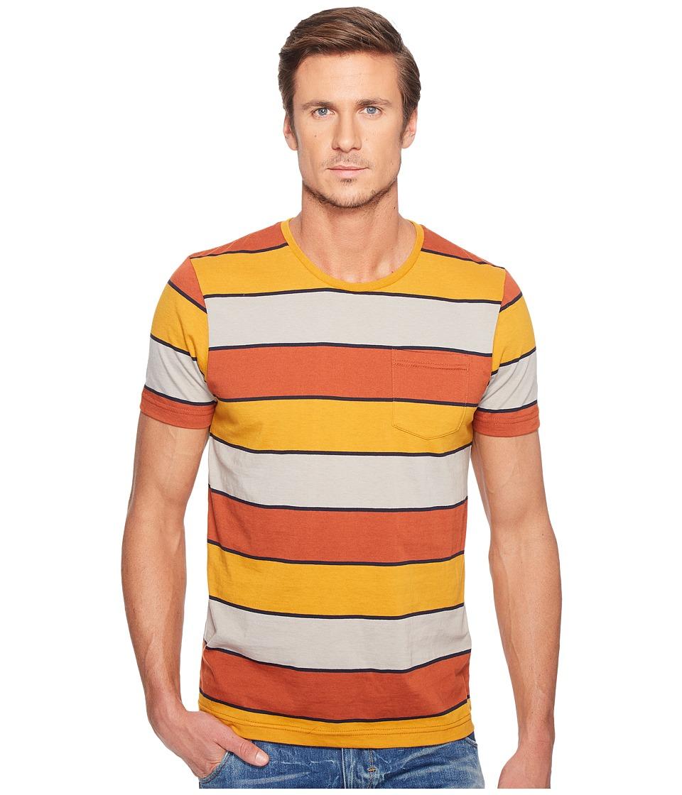 Captain Fin - Howard Short Sleeve Knit (Rust) Men's Clothing