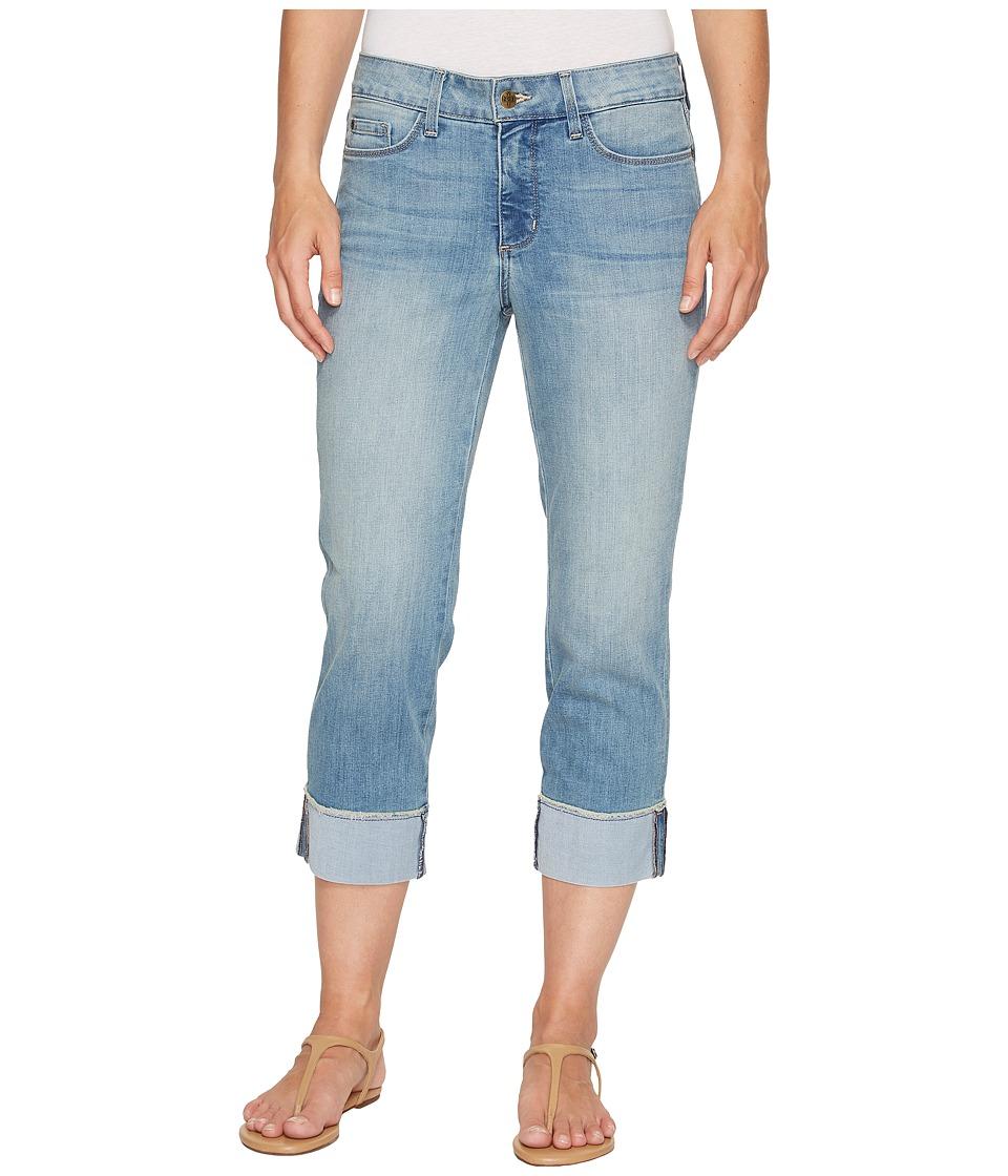 NYDJ - Dayla Wide Cuff Capris w/ Fray in Pampelonne (Pampelonne) Women's Jeans