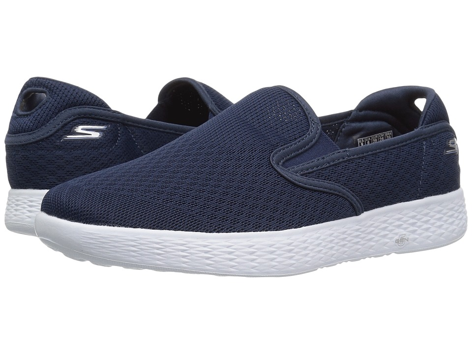 SKECHERS Performance On-The-Go Glide Moderate (Navy/White) Women