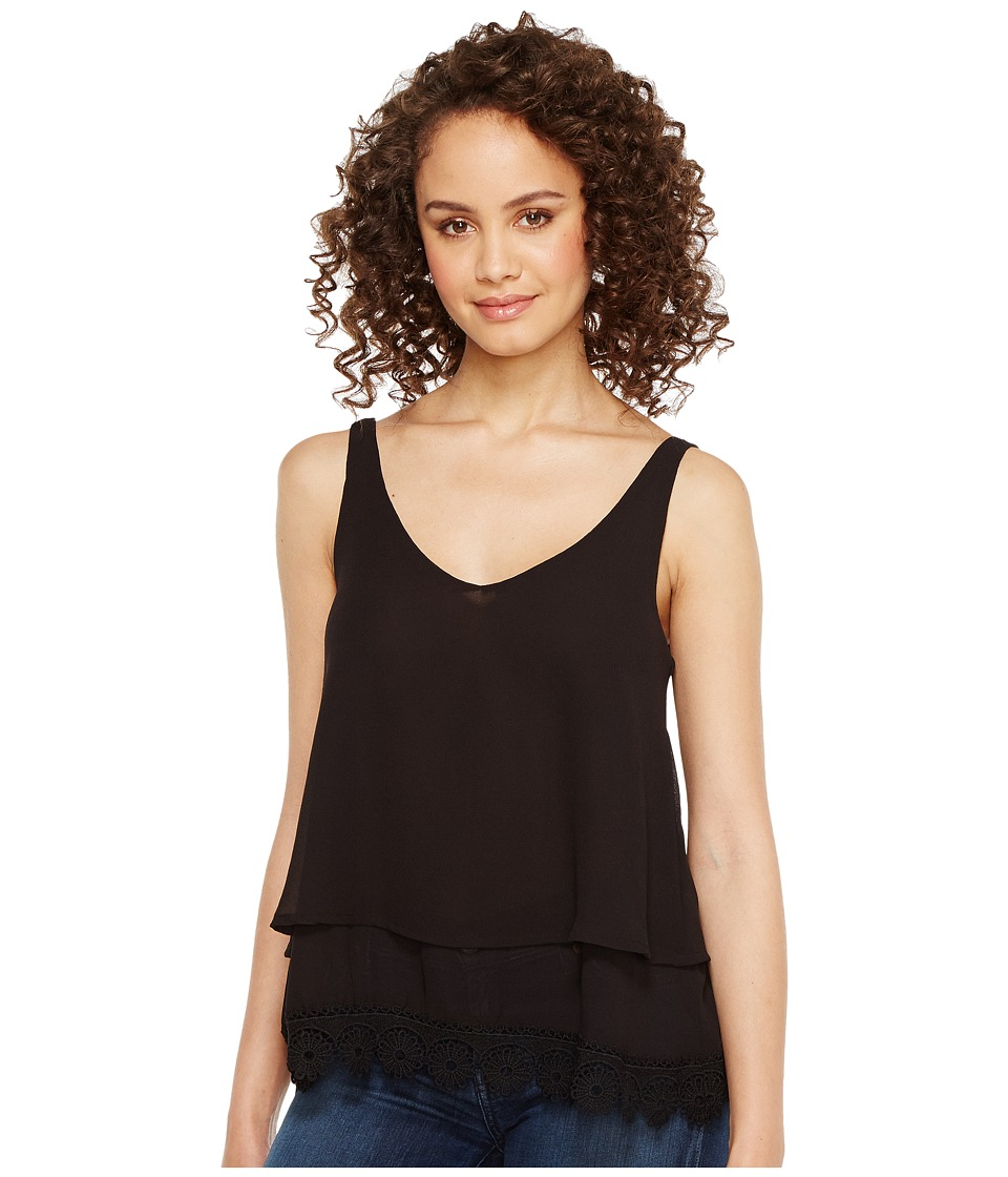 Roper - 1291 Georgette Layered Tank Top (Black) Women's Sleeveless
