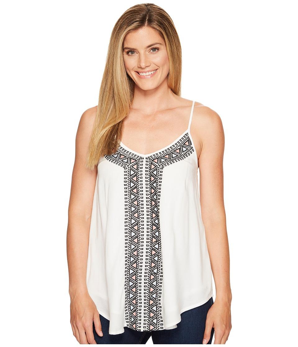 Roper - 1144 Cotton Rayon Lawn Tank Top (White) Women's Sleeveless