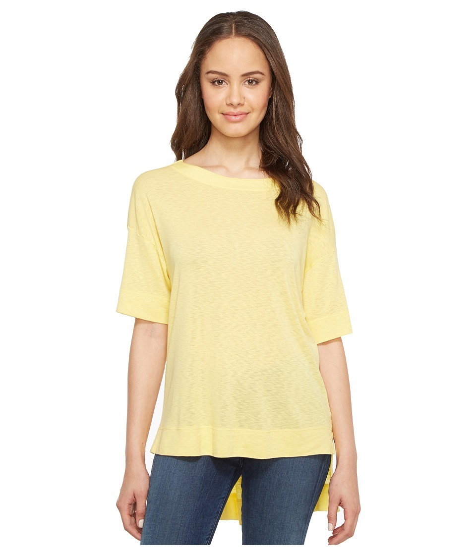 Three Dots - Slub Tuxedo Tee (Buttercream) Women's T Shirt