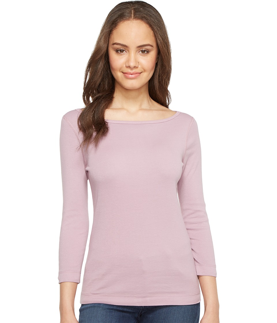 Three Dots - 3/4 Sleeve British Tee (Lavender Dream) Women's Long Sleeve Pullover