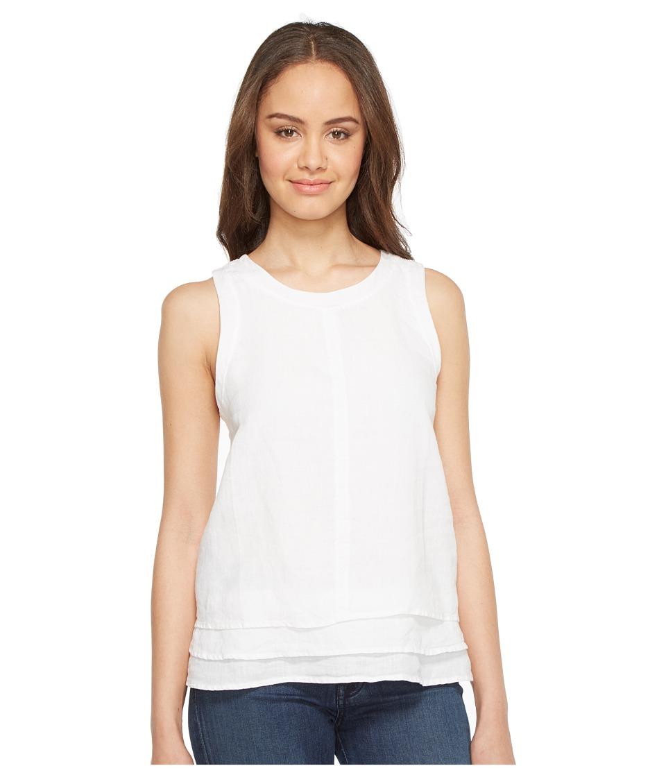 Three Dots - Layered Tank Top (White) Women's Sleeveless