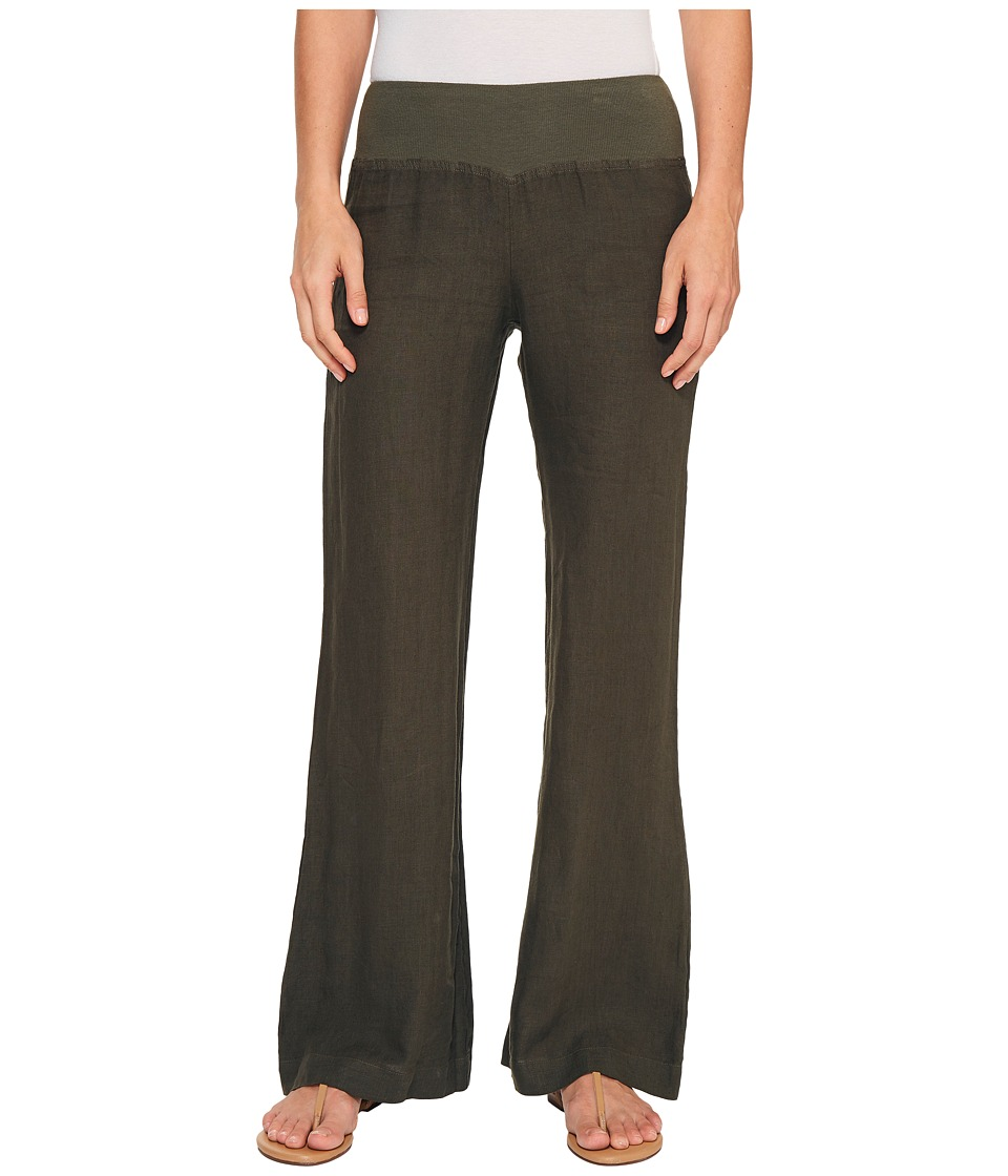 Three Dots - Linen Wide Leg Pants (Tapenade) Women's Casual Pants