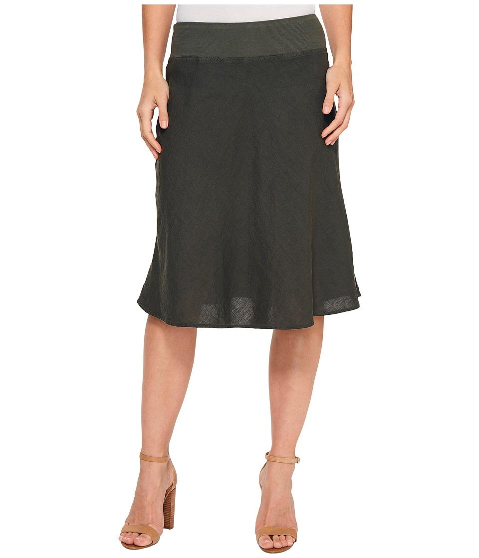 Three Dots - Woven Linen Skirt (Tapenade) Women's Skirt