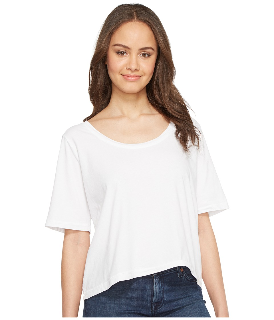 Three Dots - Boxy Tee (White) Women's T Shirt