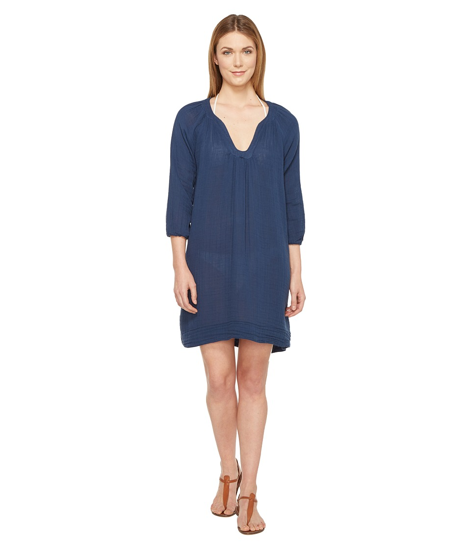 Three Dots Cover-Up Dress (Super Blue) Women