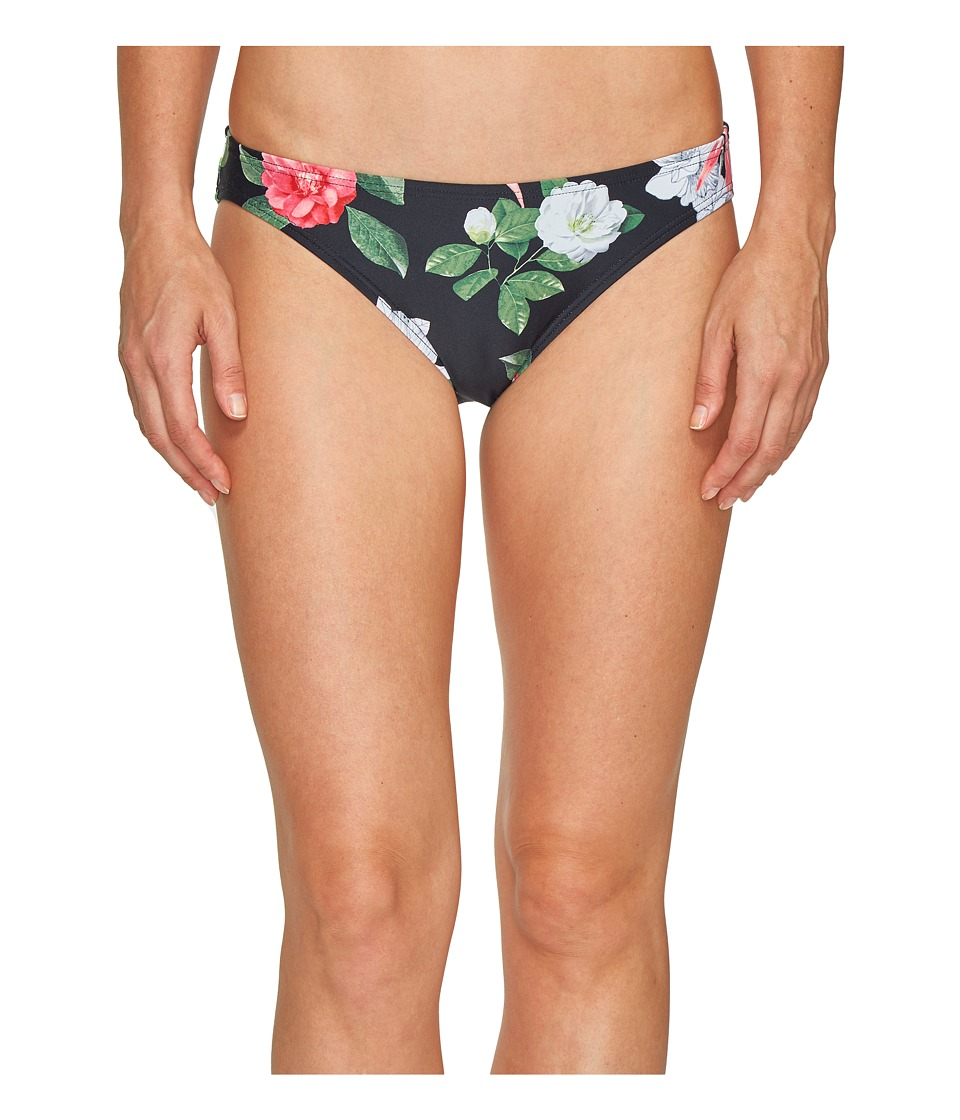 Vince Camuto - Tropical Classic Bikini Bottom (Black) Women's Swimwear