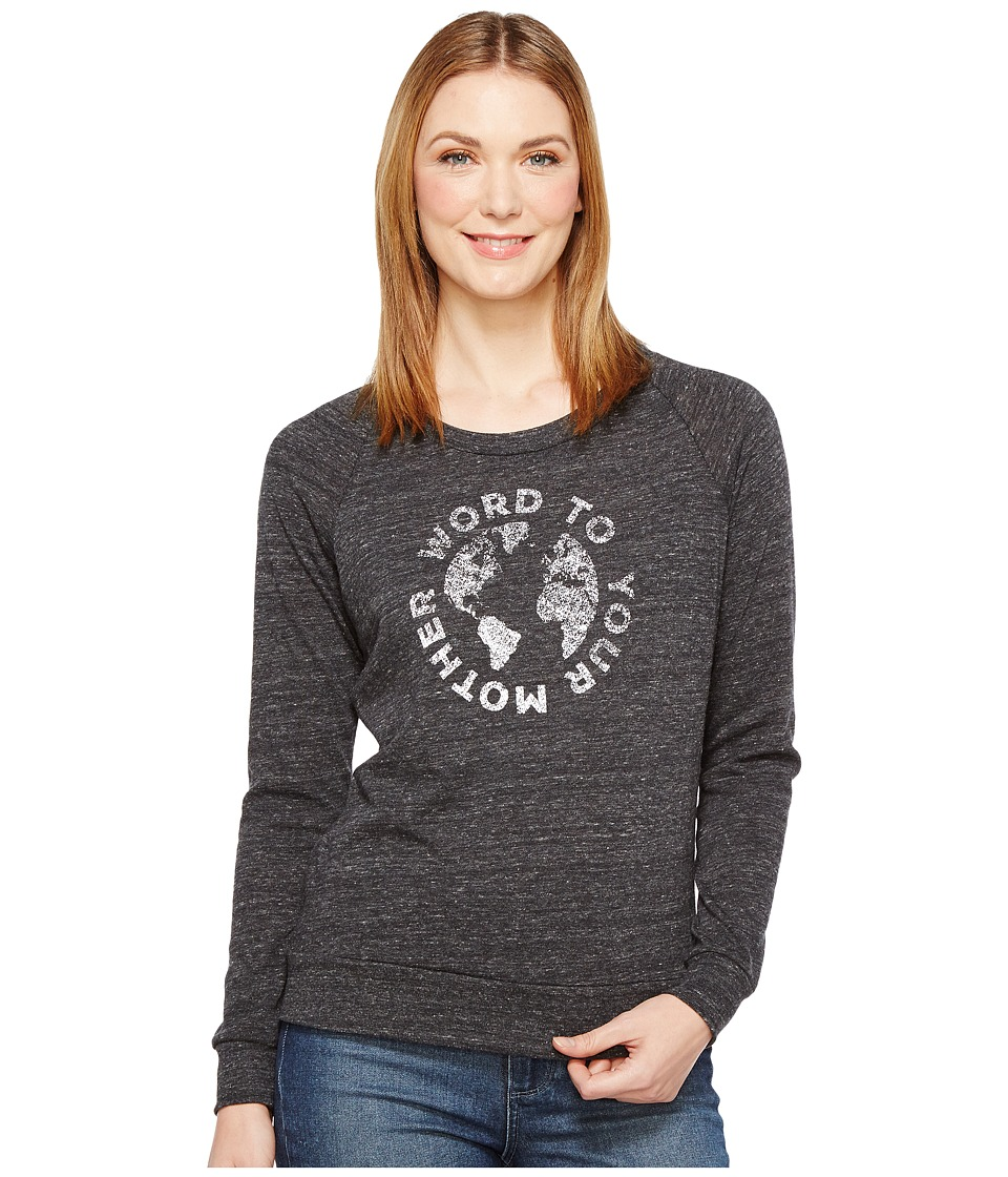Alternative - Eco Slouchy Pullover (Word to Your Mother Eco Black) Women's Sweatshirt