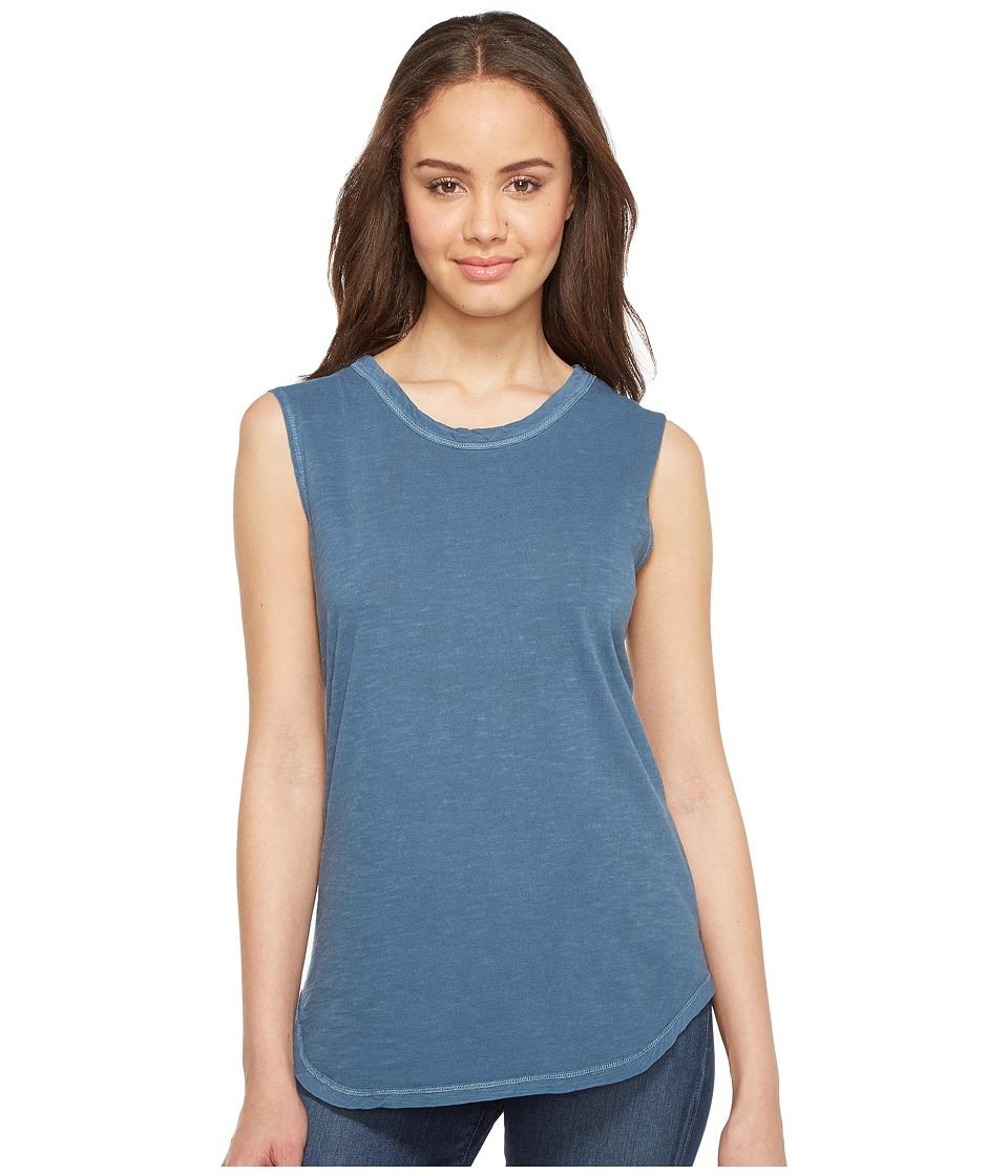 Alternative - Inside Out Slub Sleeveless T-Shirt (Mineral Blue Pigment) Women's Sleeveless