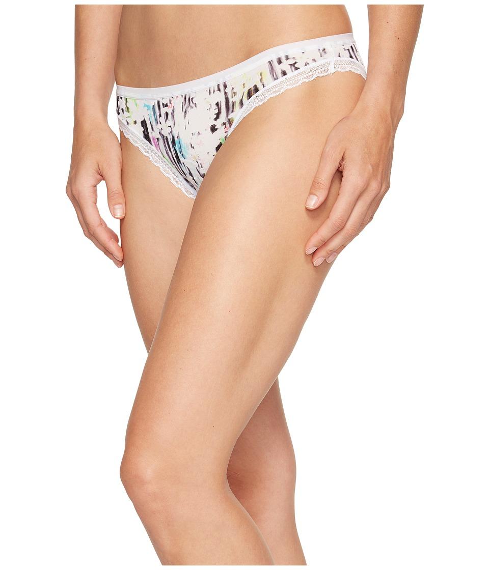 OnGossamer - Triple Mesh Hip Bikini (Digital Floral Print) Women's Underwear