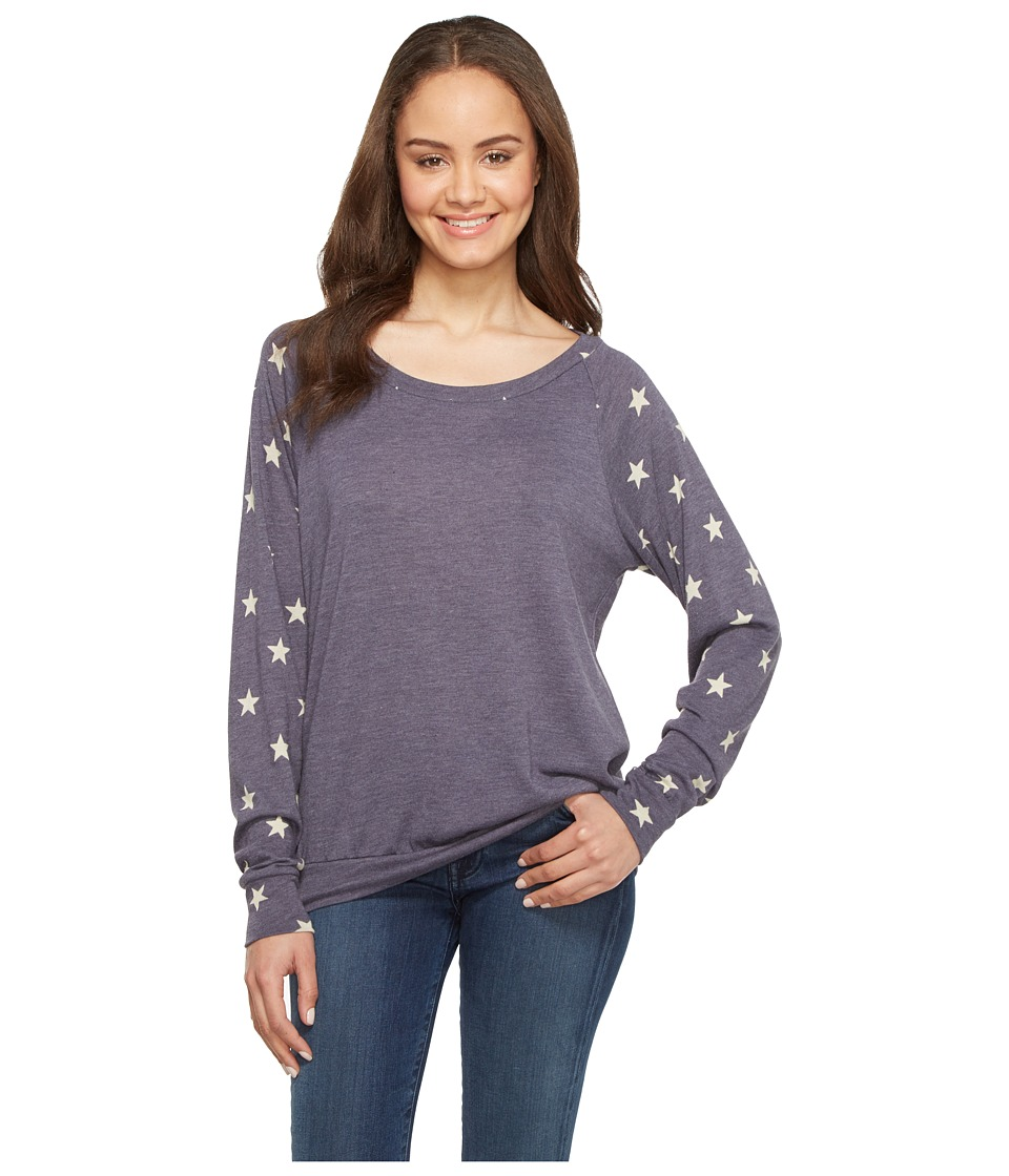 Alternative - Slouchy Pullover (Eco True Navy Stars) Women's Sweatshirt