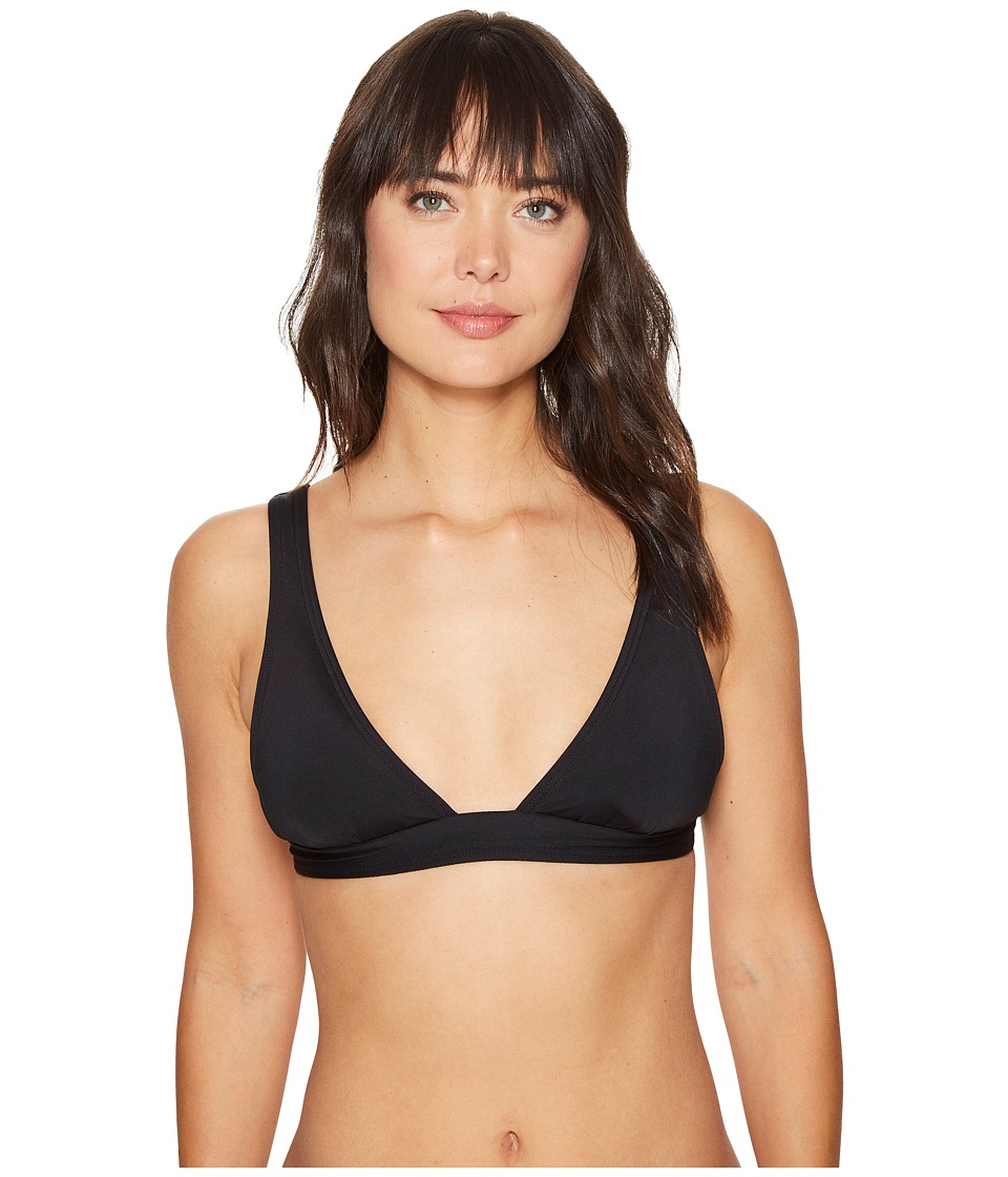 Vince Camuto - Draped Solids Architectural Bikini Top (Black) Women's Swimwear