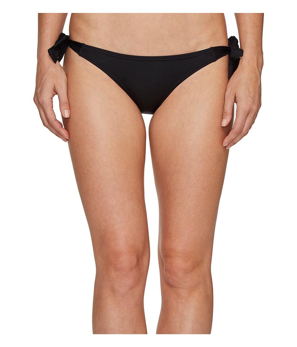 Vince Camuto - Draped Solids Side Tie Bikini Bottom (Black) Women's Swimwear