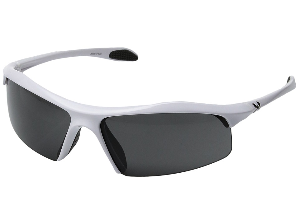 Under Armour - Zone (Shiny White/Gray Lens) Athletic Performance Sport Sunglasses