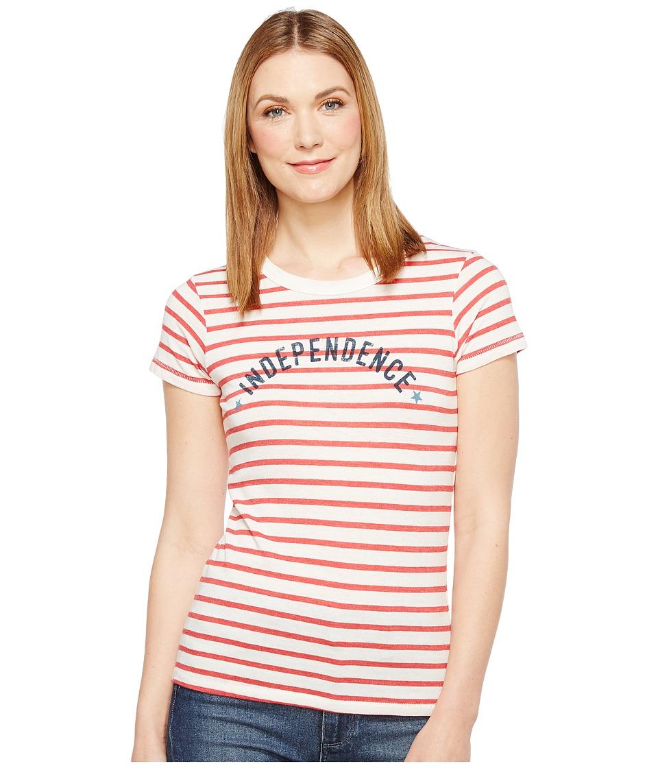 Alternative - Eco Jersey Yarn-Dye Stripe Ideal Tee (Red Riviera Stripe Independence) Women's T Shirt