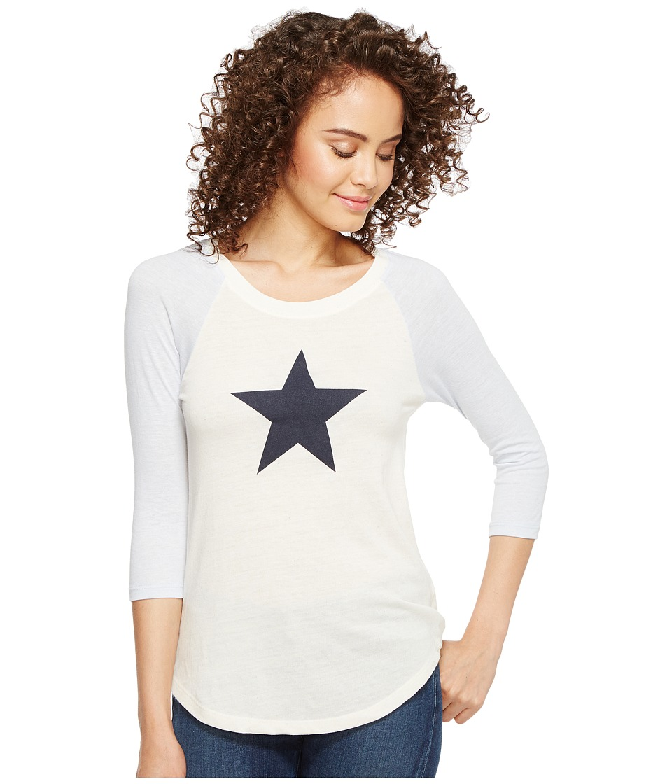 Alternative - Eco Jersey Raglan Baseball T-Shirt (Eco Ivory/Eco Glacier Blue Star) Women's T Shirt