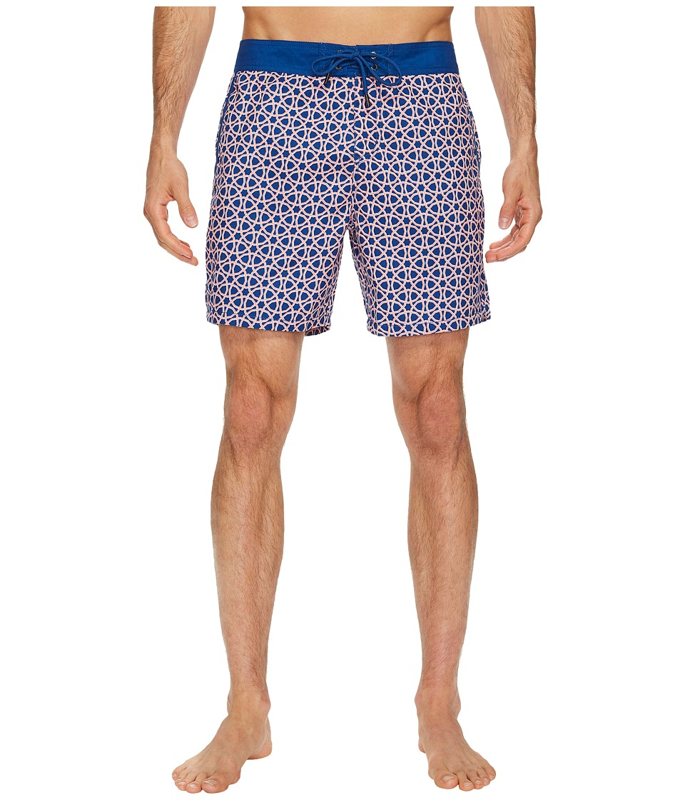 Mr. Swim - Octagon Printed Chuck Boardshorts (Tangerine) Men's Swimwear