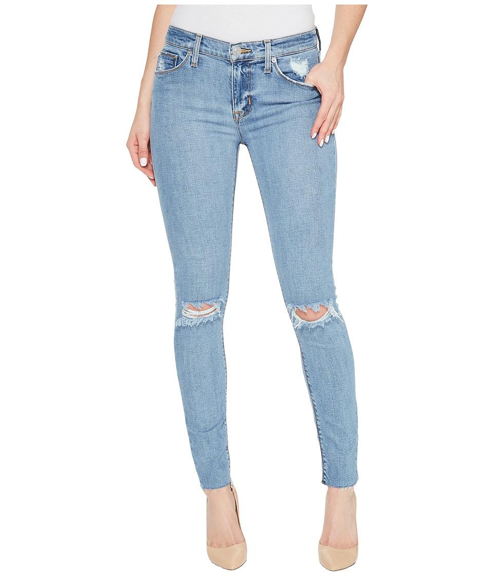 Hudson - Nico Mid-Rise Ankle Raw Hem Super Skinny Five-Pocket Jeans in Hooligan (Hooligan) Women's Jeans