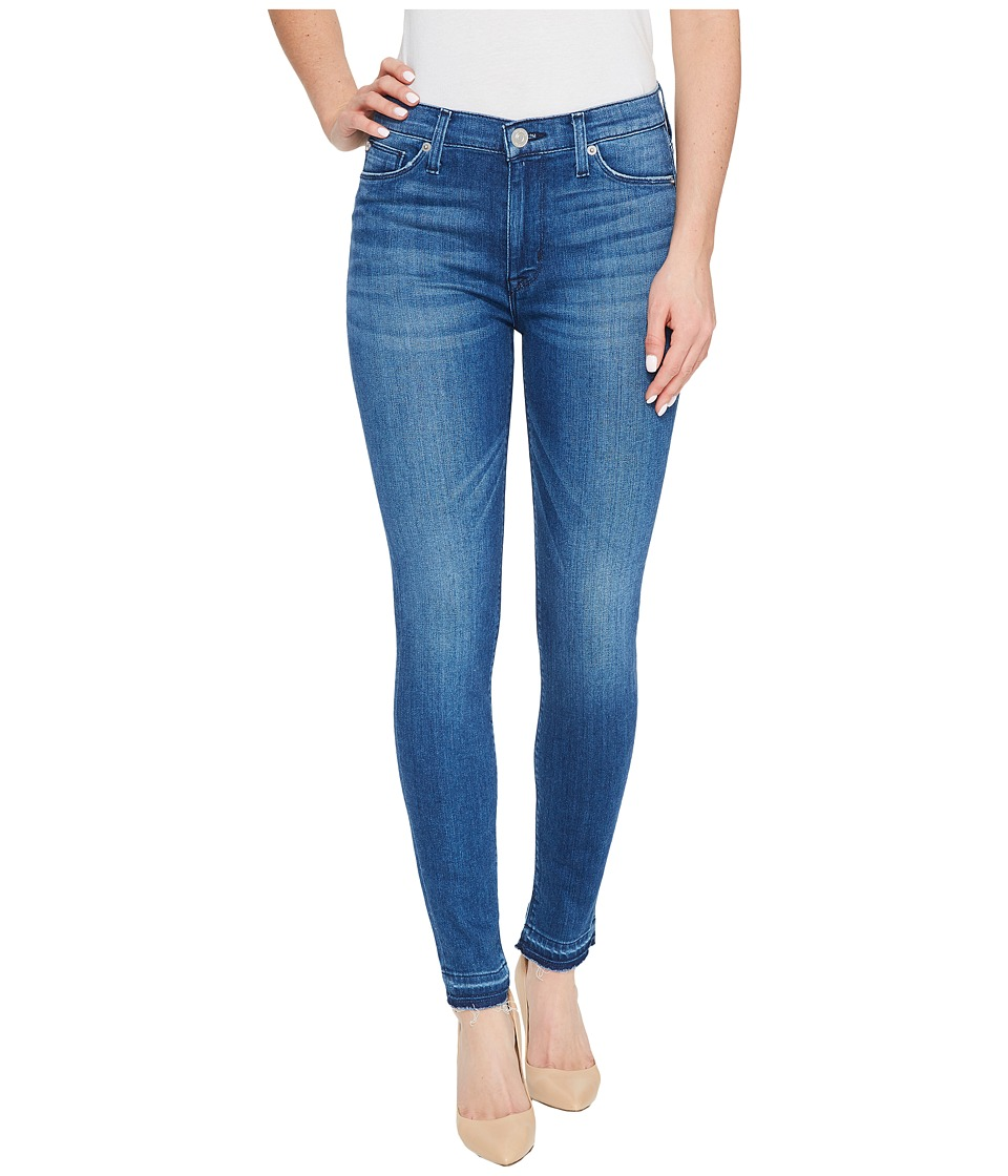Hudson Barbara High Waist Super Skinny Ankle Five-Pocket Jeans in Blue Riot (Blue Riot) Women