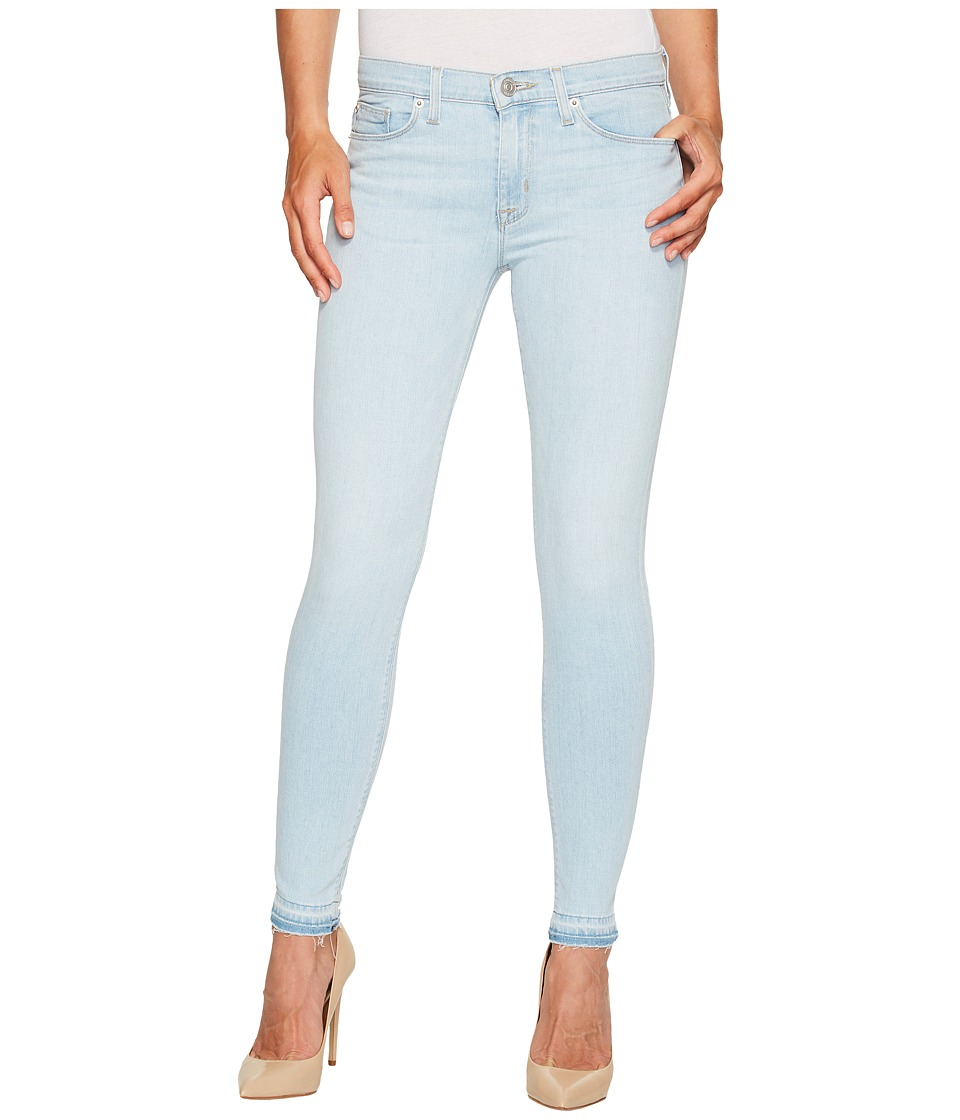 Hudson Nico Mid-Rise Ankle Super Skinny w/ Released Hem Five-Pocket Jeans in Bliss (Bliss) Women