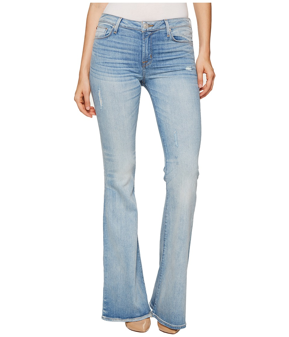 Hudson - Mia Five-Pocket Mid-Rise Flare Jeans in Aura (Aura) Women's Jeans