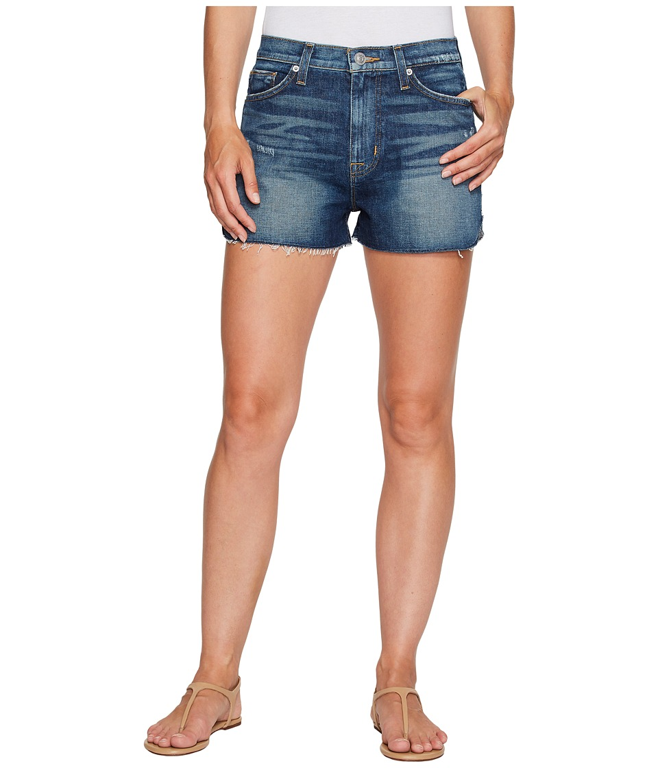 Hudson - Dahlia High-Rise Dolphin Denim Shorts in Fortune (Fortune) Women's Shorts